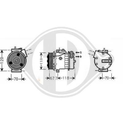 Compresseur, climatisation - Diederichs Germany - 8345206