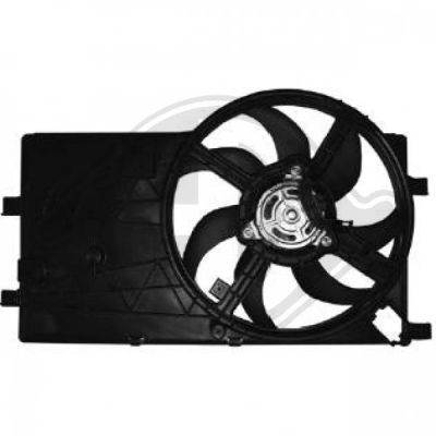 Ventilateur, refroidissement du moteur - Diederichs Germany - 8345207