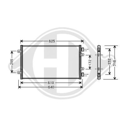 Condenseur, climatisation - Diederichs Germany - 8345300
