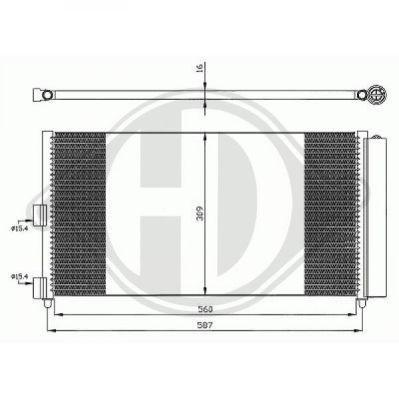 Condenseur, climatisation - Diederichs Germany - 8345301