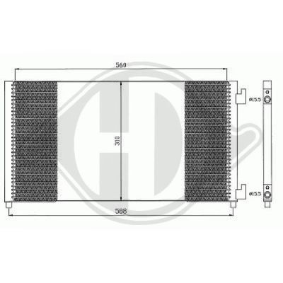 Condenseur, climatisation - HDK-Germany - 77HDK8345303