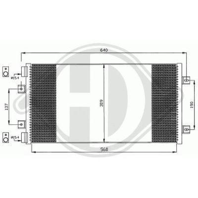 Condenseur, climatisation - Diederichs Germany - 8345304