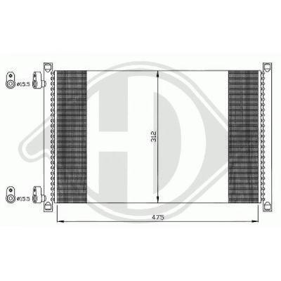 Condenseur, climatisation - Diederichs Germany - 8345305