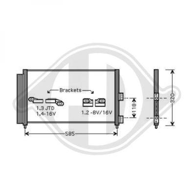 Condenseur, climatisation - Diederichs Germany - 8345400
