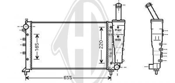 Radiateur, refroidissement du moteur - Diederichs Germany - 8345405
