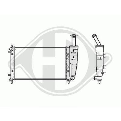 Radiateur, refroidissement du moteur - Diederichs Germany - 8345406