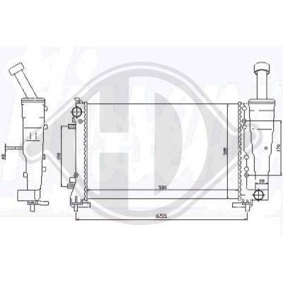 Radiateur, refroidissement du moteur - HDK-Germany - 77HDK8345407