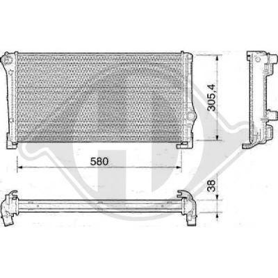 Radiateur, refroidissement du moteur - Diederichs Germany - 8345408
