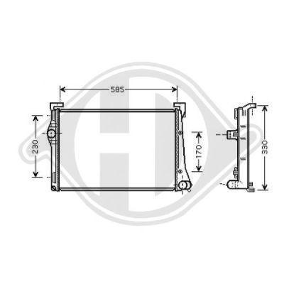 Radiateur, refroidissement du moteur - Diederichs Germany - 8345409