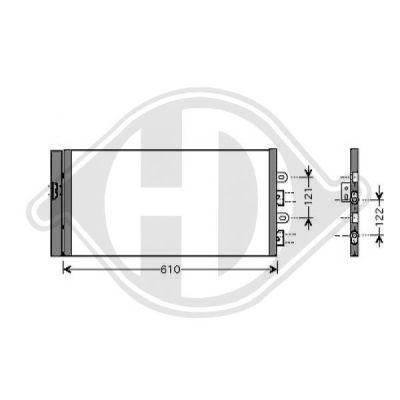Condenseur, climatisation - Diederichs Germany - 8345410