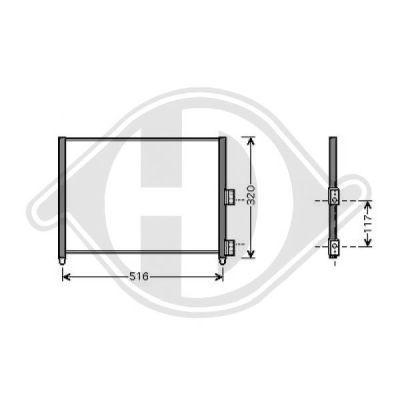 Condenseur, climatisation - Diederichs Germany - 8345411