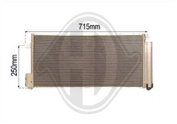 Condenseur, climatisation - Diederichs Germany - 8345602