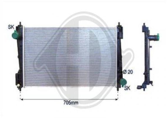 Radiateur, refroidissement du moteur - Diederichs Germany - 8345604