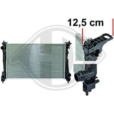 Radiateur, refroidissement du moteur - Diederichs Germany - 8345606