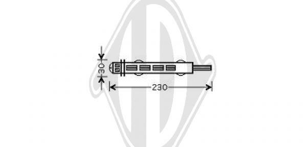 Filtre déshydratant, climatisation - Diederichs Germany - 8345608