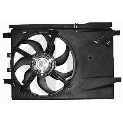 Ventilateur, refroidissement du moteur - Diederichs Germany - 8345610