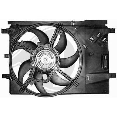 Ventilateur, refroidissement du moteur - Diederichs Germany - 8345611