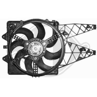 Ventilateur, refroidissement du moteur - Diederichs Germany - 8345612