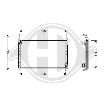 Condenseur, climatisation - HDK-Germany - 77HDK8346100