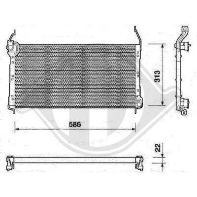 Condenseur, climatisation - Diederichs Germany - 8346101