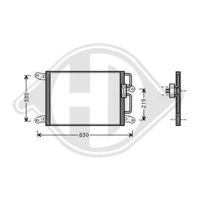 Condenseur, climatisation - Diederichs Germany - 8346104
