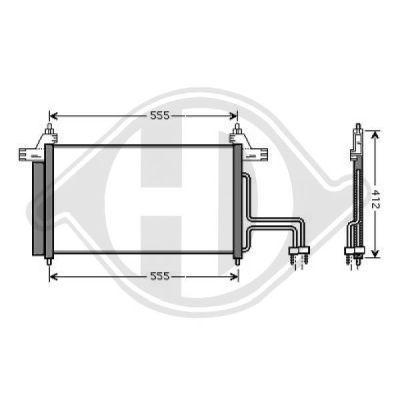 Condenseur, climatisation - Diederichs Germany - 8346200