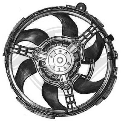 Ventilateur, refroidissement du moteur - Diederichs Germany - 8346202