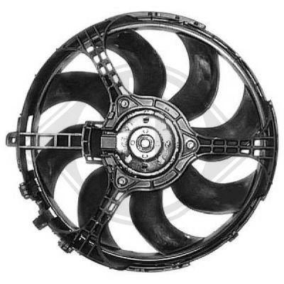 Ventilateur, refroidissement du moteur - Diederichs Germany - 8346203