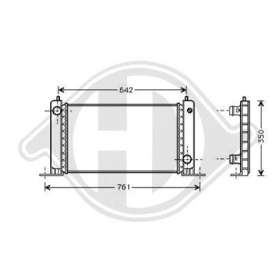 Radiateur, refroidissement du moteur - Diederichs Germany - 8346205