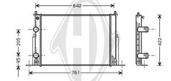 Radiateur, refroidissement du moteur - HDK-Germany - 77HDK8346206