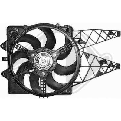 Ventilateur, refroidissement du moteur - Diederichs Germany - 8346301