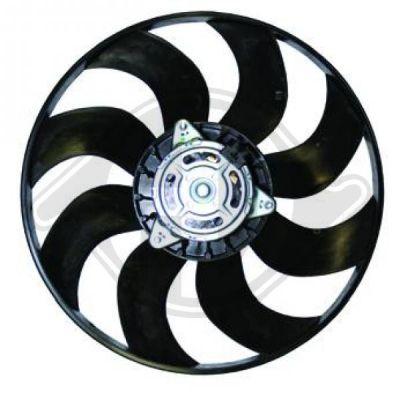 Ventilateur, refroidissement du moteur - Diederichs Germany - 8346303