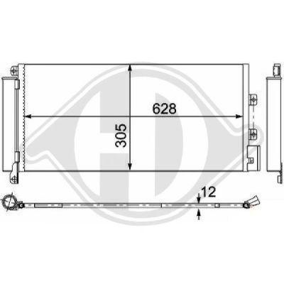 Condenseur, climatisation - Diederichs Germany - 8346341