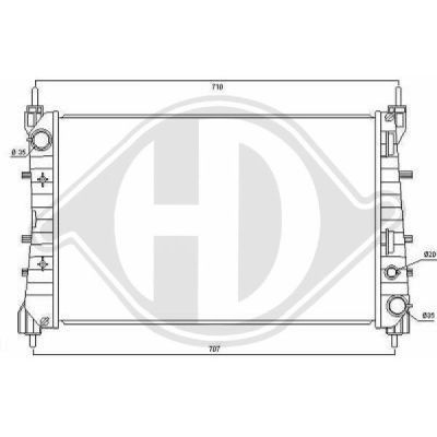 Radiateur, refroidissement du moteur - Diederichs Germany - 8346346