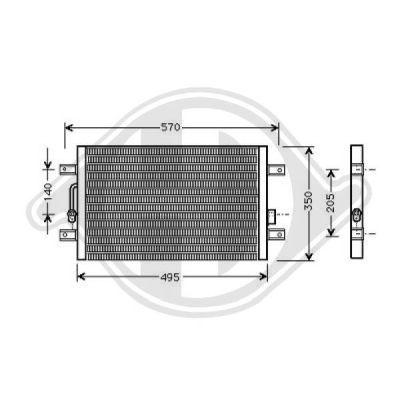 Condenseur, climatisation - Diederichs Germany - 8346500