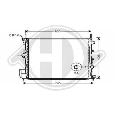 Radiateur, refroidissement du moteur - Diederichs Germany - 8347201