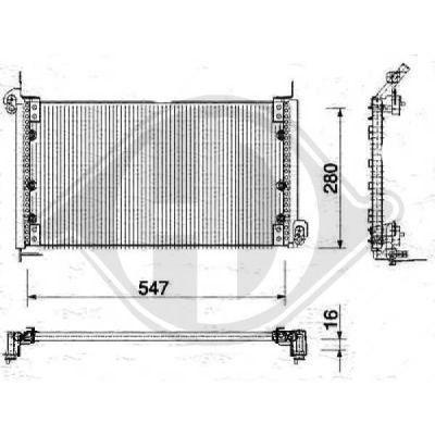 Condenseur, climatisation - Diederichs Germany - 8347500