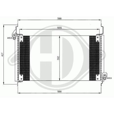 Condenseur, climatisation - HDK-Germany - 77HDK8347501