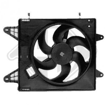 Ventilateur, refroidissement du moteur - Diederichs Germany - 8347503