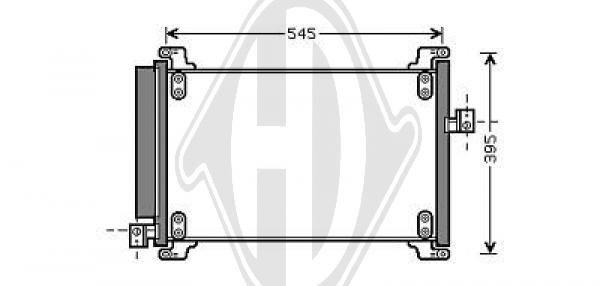 Condenseur, climatisation - Diederichs Germany - 8347600