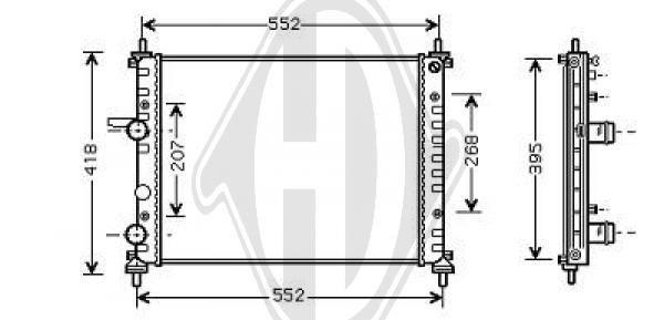 Radiateur, refroidissement du moteur - Diederichs Germany - 8347602