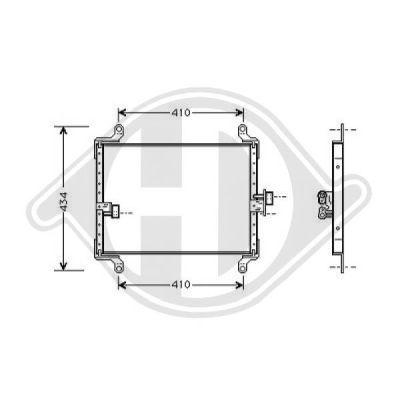 Condenseur, climatisation - Diederichs Germany - 8348100
