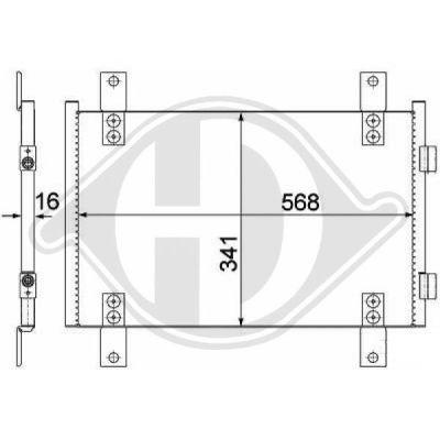 Condenseur, climatisation - Diederichs Germany - 8348101