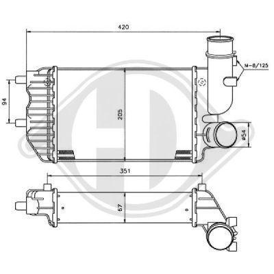 Intercooler, échangeur - HDK-Germany - 77HDK8348104