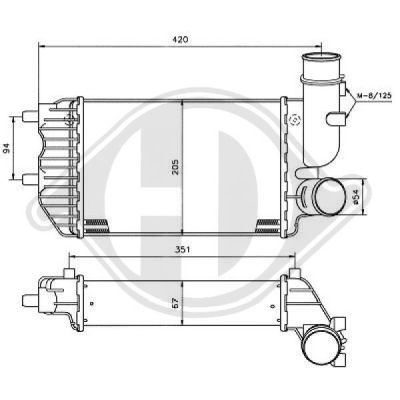 Intercooler, échangeur - Diederichs Germany - 8348104