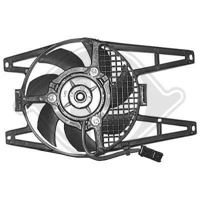 Ventilateur, refroidissement du moteur - Diederichs Germany - 8348105