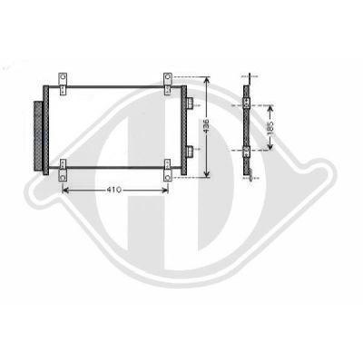 Condenseur, climatisation - Diederichs Germany - 8348300