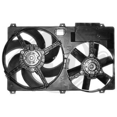Ventilateur, refroidissement du moteur - Diederichs Germany - 8348301