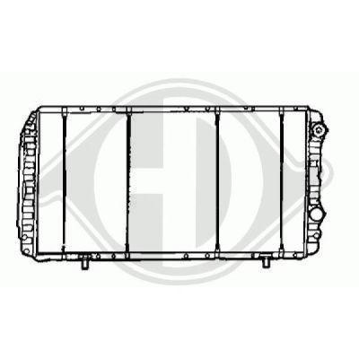 Radiateur, refroidissement du moteur - Diederichs Germany - 8348306