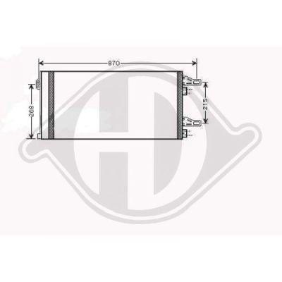 Condenseur, climatisation - Diederichs Germany - 8348400